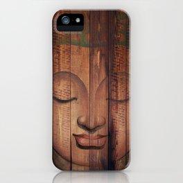Wood budha iPhone Case