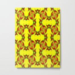 Recycled Smoke Pattern Metal Print