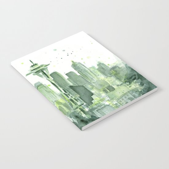 Seattle Watercolor Painting Notebook