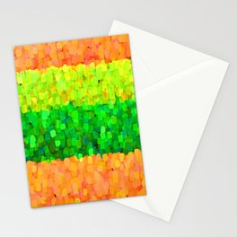 Sparkle Glitter Orange Stationery Cards
