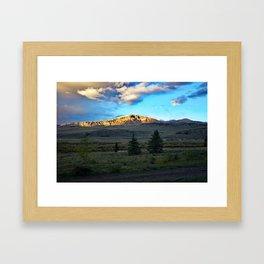 Frosted Bristol Head Peak Framed Art Print