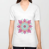 om V-neck T-shirts featuring Om by zakumy