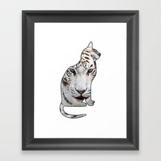 WHITE CATS Framed Art Print
