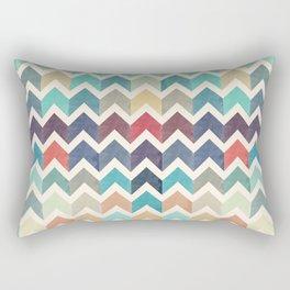 Watercolor Chevron Pattern Rectangular Pillow