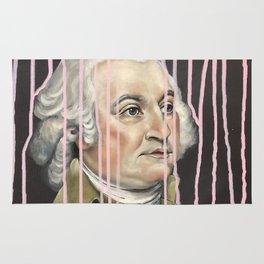 Pink Drip John Adams Rug