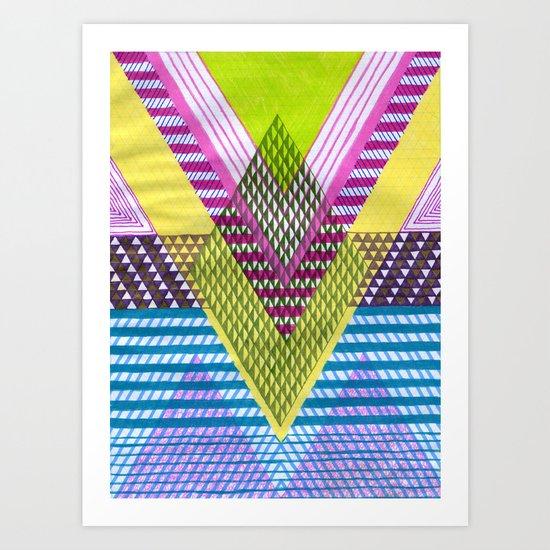 Isometric Harlequin #7 Art Print