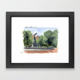 Bethesda Fountain - Central Park Framed Art Print