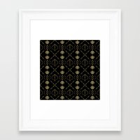 ace Framed Art Prints featuring Ace by October's Very Own