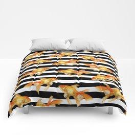 The Golden One II - b&w stripes Comforters