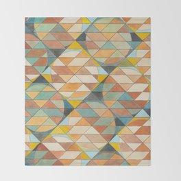 Triangles and Circles Pattern no.23 Throw Blanket