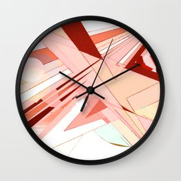 """Light Shards"" Wall Clock"
