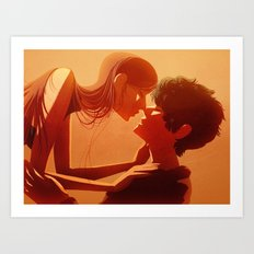 Across Worlds Art Print