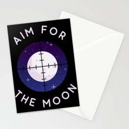 Aim for the Moon Stationery Cards