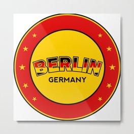 Berlin, circle, red Metal Print