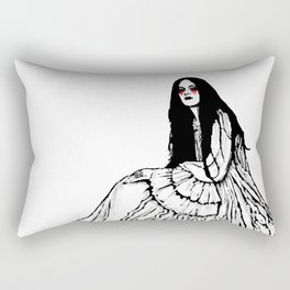 White Dress Rectangular Pillow
