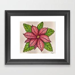 Poinsettia Framed Art Print