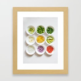 Deconstructed Guac Framed Art Print