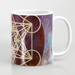 Metatron Mandala Moon Gold Bronze Copper Coffee Mug