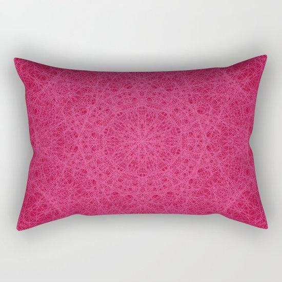 Red Mandala Rectangular Pillow