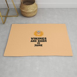 Vikings are born in June T-Shirt Dni2i Rug