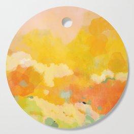 abstract spring sun Cutting Board