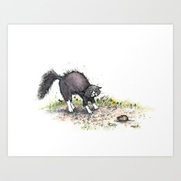 Cat & Mouse Art Print