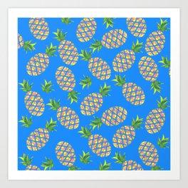 Tropical Pineapple Sunrise Art Print