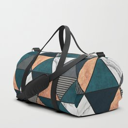 Copper, Marble and Concrete Triangles 2 with Blue Duffle Bag