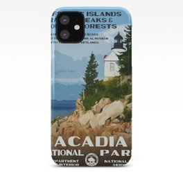 Vintage poster - Acadia National Park iPhone Case