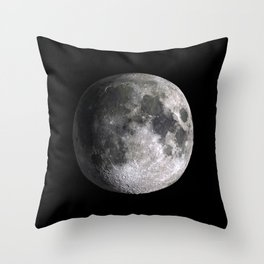 The Full Moon Super Detailed Print Throw Pillow