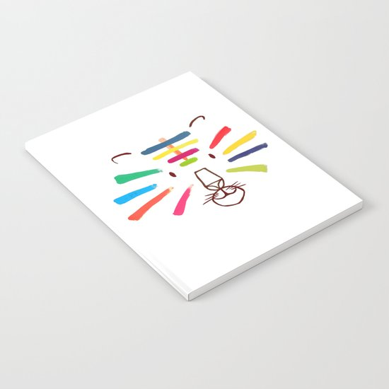 Tiger With Colorful Stripes Notebook