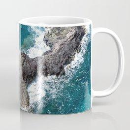 Tropical Turquoise Ocean Surf Surrounding Rocky Remote Island Coffee Mug