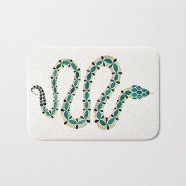 Emerald & Gold Serpent Bath Mat