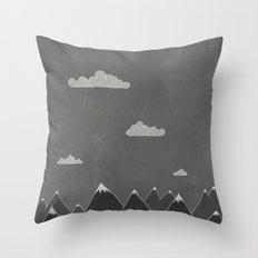 Chalkboard Winter Throw Pillow