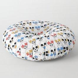 Cute Skulls No Evil II Pattern Floor Pillow