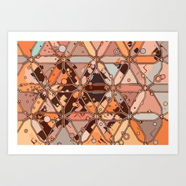 Urban Digital Circuitry Art Print