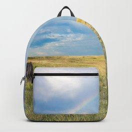 Rainbows and Bison - Buffalo on the Tallgrass Prairies of Oklahoma Backpack