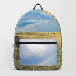 Rainbows and Bison - Buffalo on the Tallgrass Prairies of Oklahoma Backpack