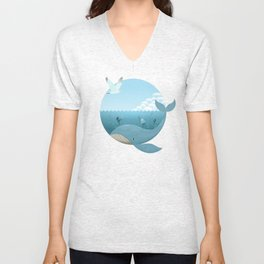 Whale & Seagull (US and THEM) Unisex V-Neck