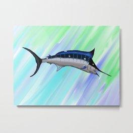 Swordfish Swirl Metal Print