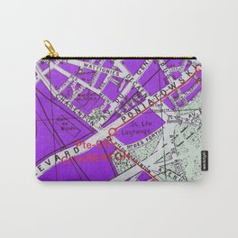 Paris in Purple Carry-All Pouch