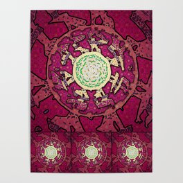 Realms of Fractal Beauty Poster