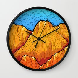 The sandy mountains Wall Clock