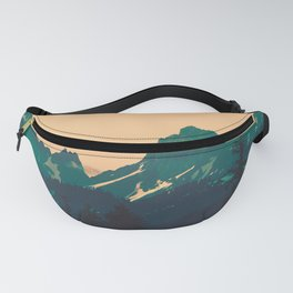 Cascade Mountains Sunset Fanny Pack