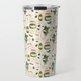 Pesto. Illustrated Recipe. Travel Mug