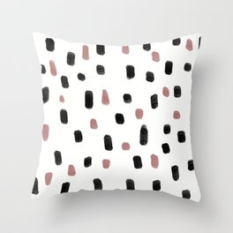 Watercolour Brushstrokes Throw Pillow