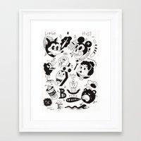 berlin Framed Art Prints featuring Berlin  by Jimmy Kid