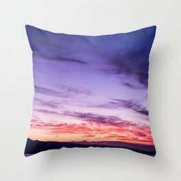 Auckland Sunset Throw Pillow