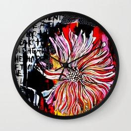 big messy flower Wall Clock