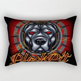 Evil dog pit bull head mascot Rectangular Pillow